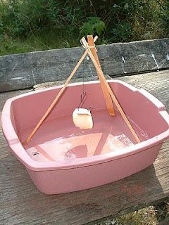 Water traps are generally homemade and consist of a 5 gallon bucket