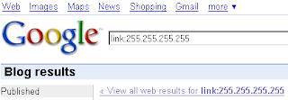 Google по блогам и оператор link: