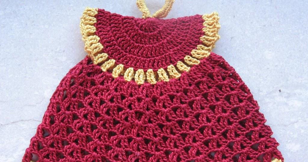 Lana e cotone maglia e uncinetto presina vestitino - Bagno 37 silvana bellaria ...