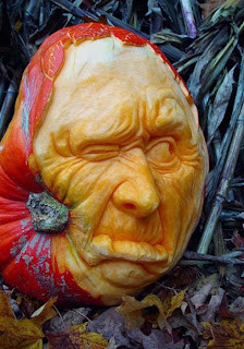 old man jack o'lantern pumpkin