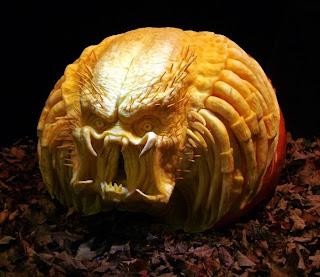 alien jack o'lantern pumpkin