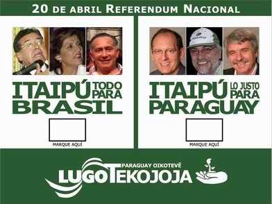 Material da campanha de Fernando Lugo no Paraguai, com proposta de referendum