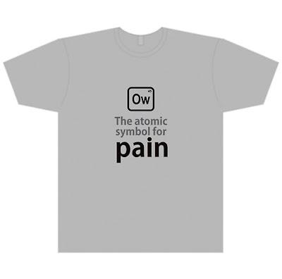Tshirts By Rudeboyskunk Atomic Symbol For Pain Tshirt
