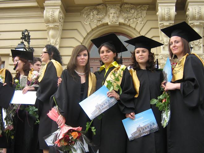 Cursul de absolvire a facultăţii, iunie 2008