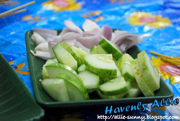 Cucumber and Onions