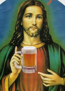 Jesus with Beer
