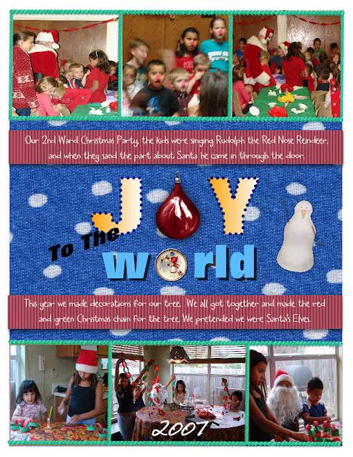 Ward Christmas Party with Santa, and making Christmas tree decorations.