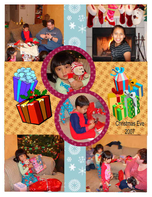 Christmas Eve, opening presents.
