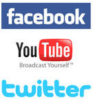 Logo Facebook Youtube Twitter