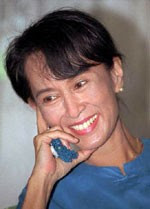 Aung San Suu Kyi freed on 13th November 2010.