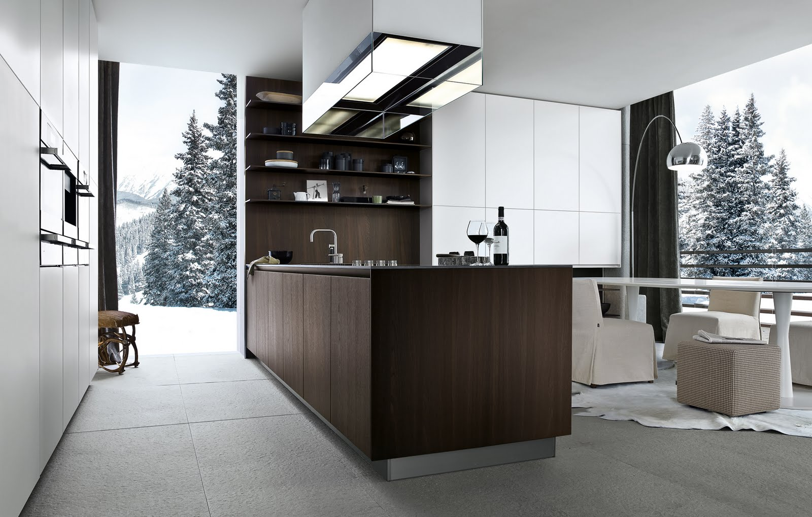 adventurous design quest twelve kitchen by carlo colombo from varenna poliform. Black Bedroom Furniture Sets. Home Design Ideas