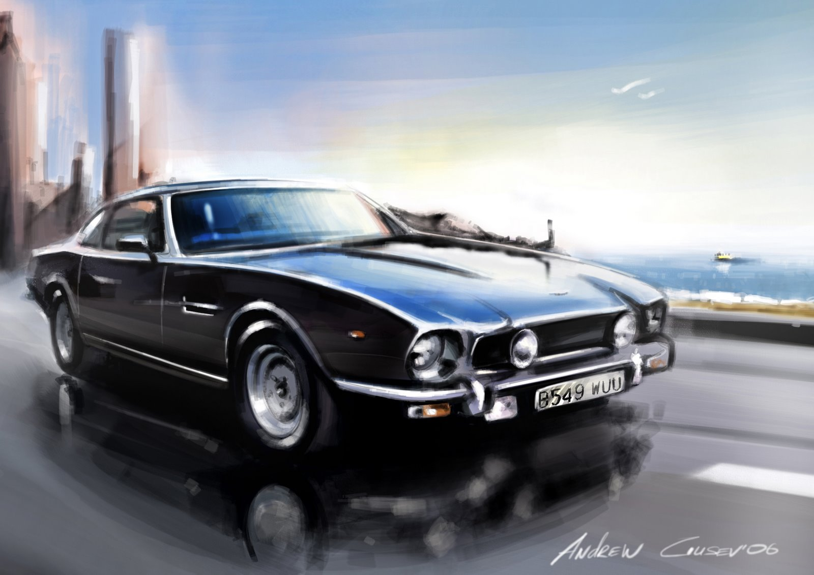 Tamerlanes Thoughts Cool Car Art By Andrey Gusev - Cool car art