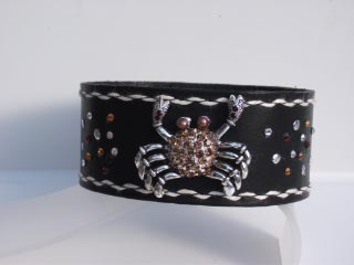 @ in leather band with crystals