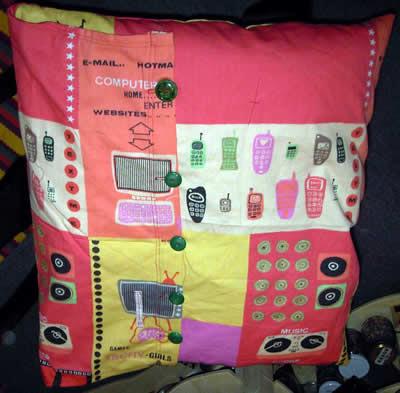 Techno cushion, by Eloise O'Hare