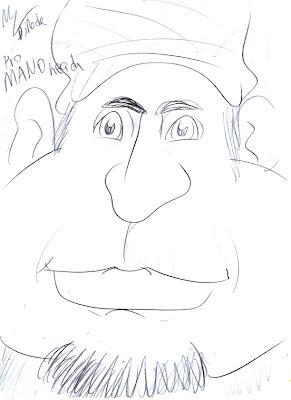 caricatura manohead por maurizio di reda