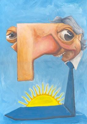 caricatura Nestor Kirchner
