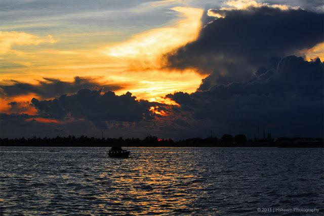 twilight on Sungai Barito