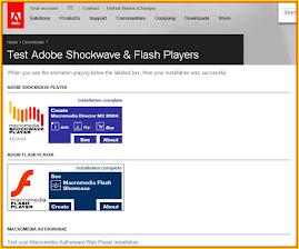 Test adobe flash player