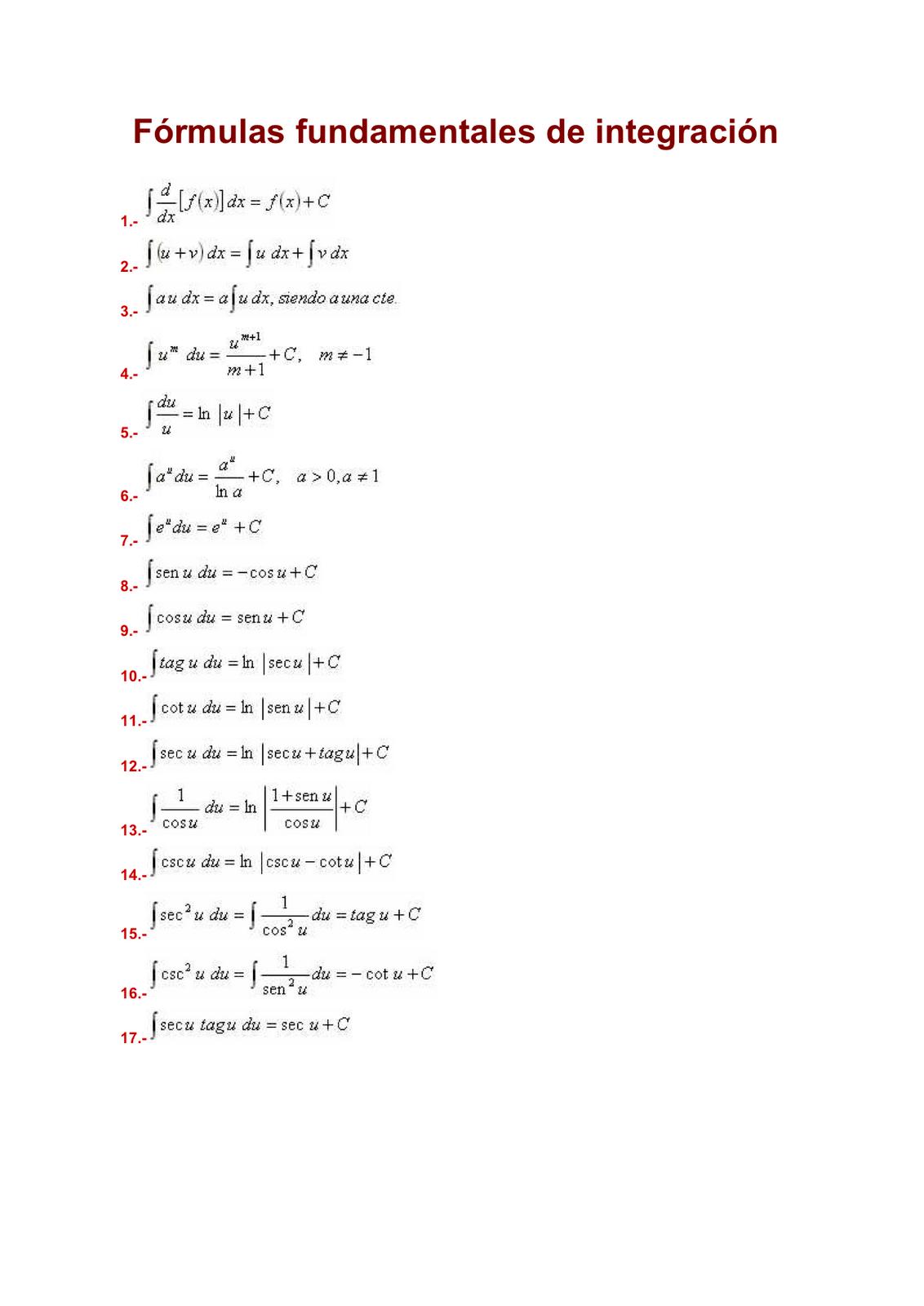 integracion funcion algebraica: