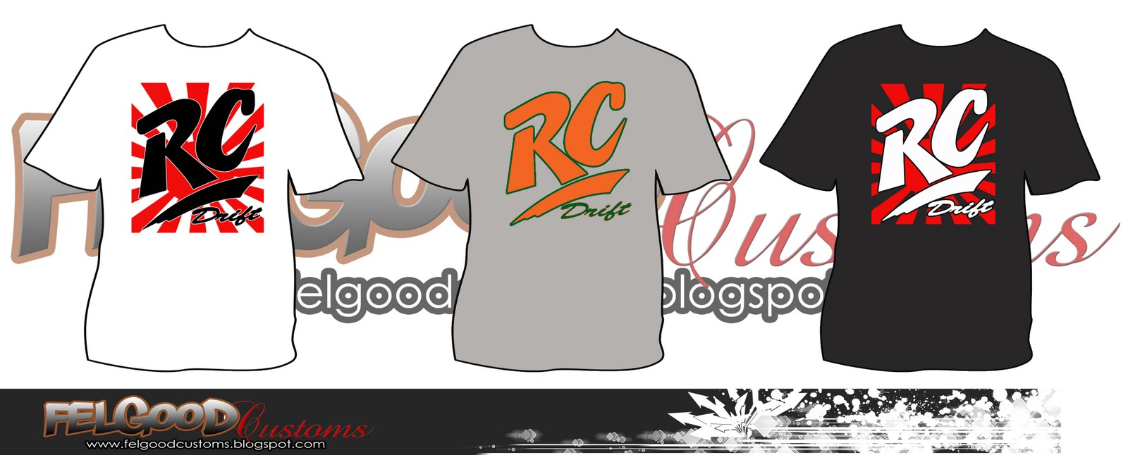 Drafting up some RC Drift shirts for production. I've been thinking