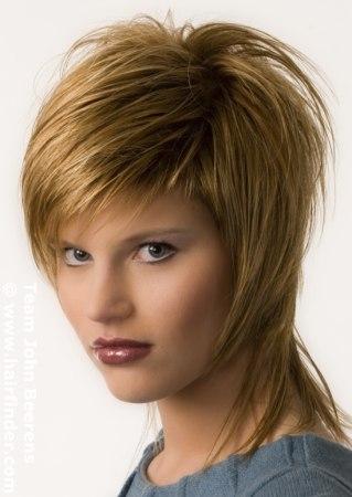 ... portrait artist withbeauty-for-mature-women short-trendy-shag-hairstyles ...