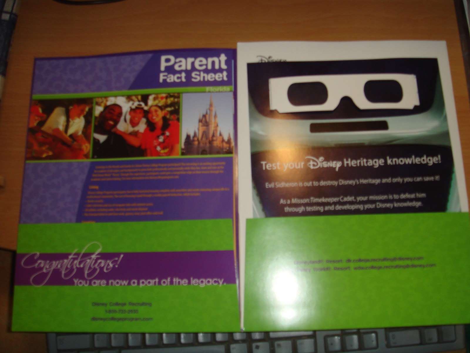 dreaming disney college program acceptance letter look at that it s teh ultimate purple folder yes if you learn that you have been accepted you will receive a purple folder you ll also get a