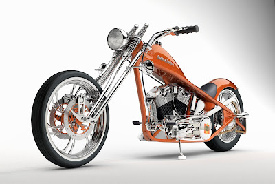 Slim Metalic Chopper Motorcycle Wallpaperr