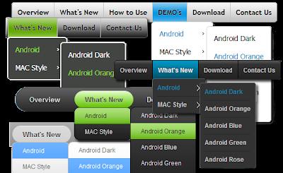 Free CSS3 Menu Maker,menu navigasi CSS3