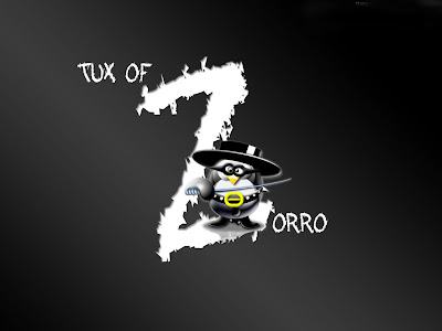 Tux Of Zorro is free wallpaper for linux