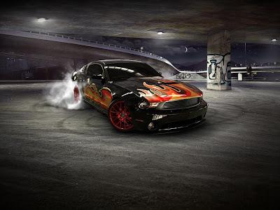wallpapers for desktop 3d cars. 3D Car Road Race Wallpaper