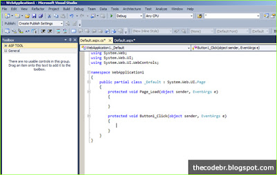 Página de CodeBehind no Visual Studio