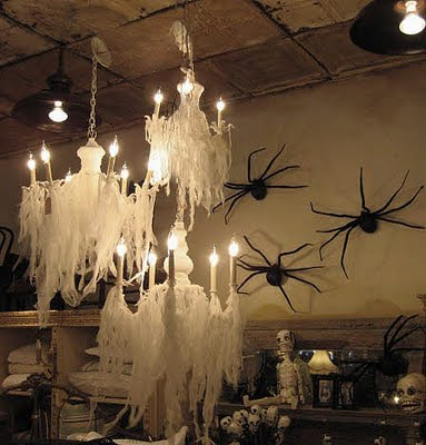 Chandelier decor halloween 1 image Scary halloween decorating ideas inside