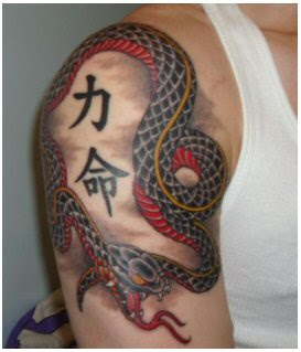 Japanese Snake Tattoo