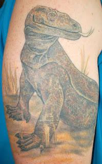 monitor lizard tattoo design for body