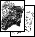 bison tattoo art design for body