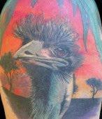 ostrich tattoo design for body