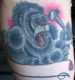 Soviet Ape gorilla tattoo