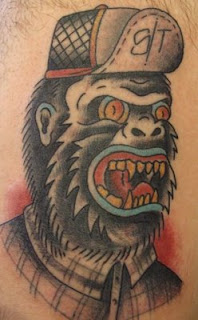 unique gorilla tattoo