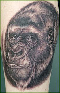 medium Gorilla Tattoo tattoo
