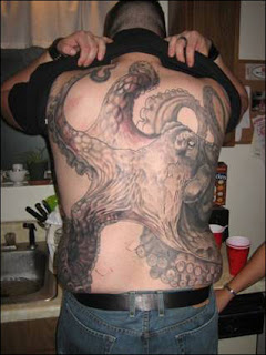 japanese octopus tattoo on back body