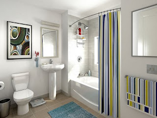 Modern  West End Interior Design -  White Bathroom Decoration