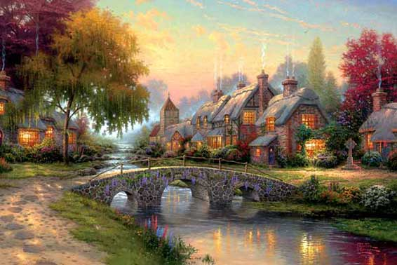 free nature outdoors thomas kinkade index 1 outdoors in dream kinkade ...