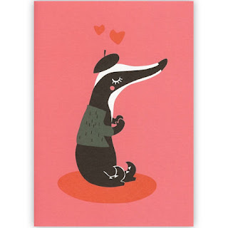 Darling Clementine French badger card