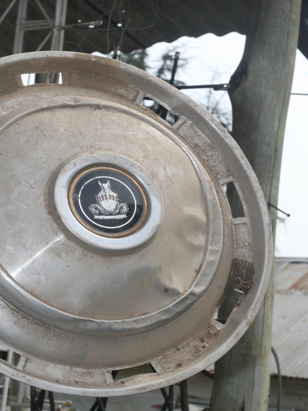 old Cadillac wheel caps.