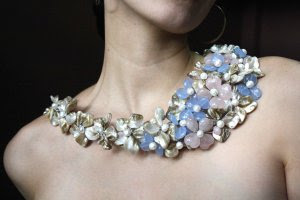 Nothing Elegant :  sky blue jewelry dramatic bib necklace