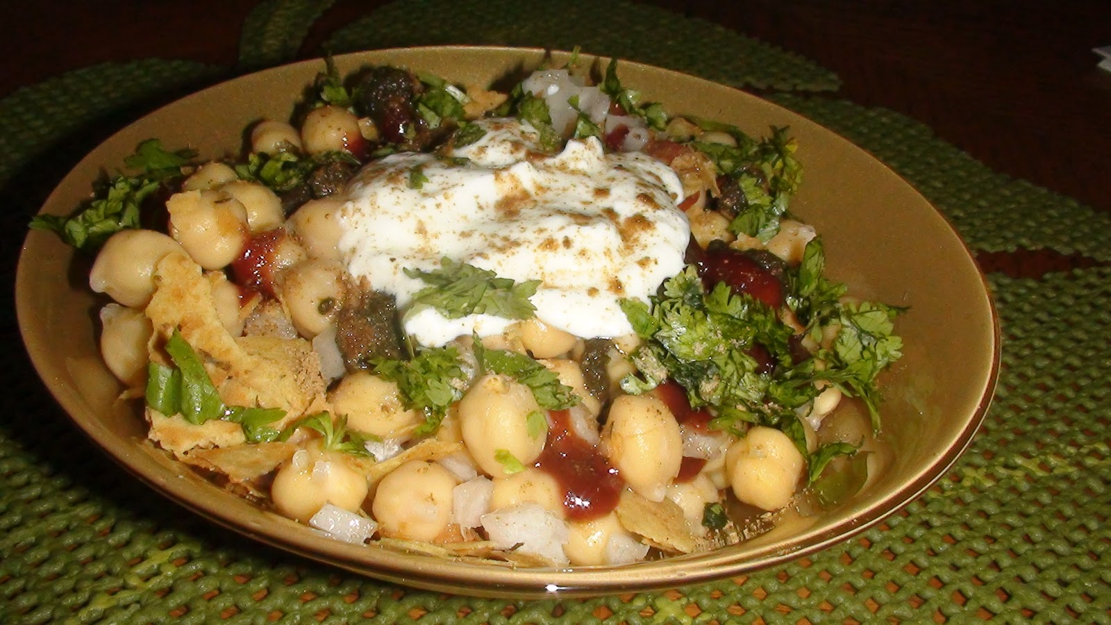 ... the chaat masala cumin pwd and chopped cilantro enjoy immediately