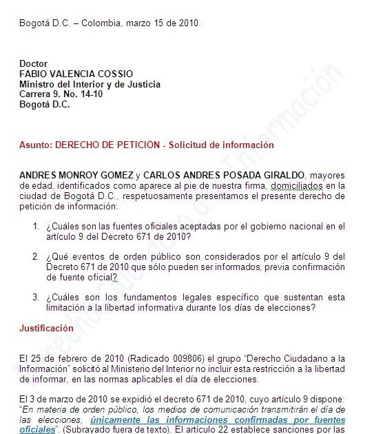 Derecho ciudadano a la informaci n derecho de for Correo ministerio del interior