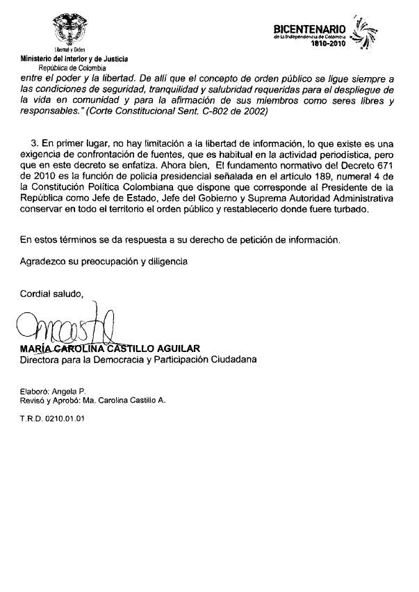 Derecho ciudadano a la informaci n ministerio del for Correo ministerio del interior