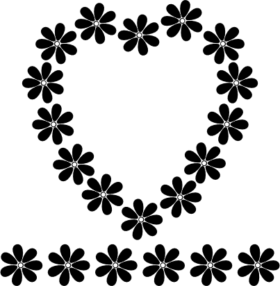 flower patterns black and white. lack and white flowers