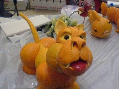 Arte en sandías y frutas.  Oranges_art_003